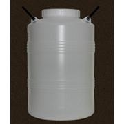 Пластиковая бочка-бидон объёмом 50 литров фото
