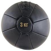 Медбол FS№3000 3 кг нат. кожа фото
