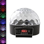 Музыкальный проектор LED Crystal magic ball light MP3 SD card - цветомузыка фото