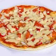 Пицца с крабовым мясом. фото