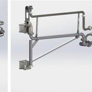 Стояк наливной герметичного налива с жестким рукавом отвода паров (Ж/Д налив) фото
