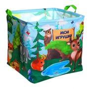 Корзина для игрушек «Лесные жители», 33х33х31 см фото