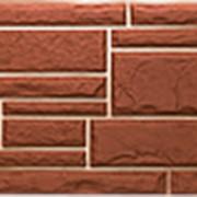 Фасадные панели T-Сайдинг, коллекция «Дикий камень» коричневый, 1090х455 фото