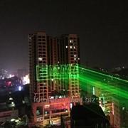 Лазерный проектор для рекламы на зданиях (всепогодный, V покол.) Цветной, 3500мвт фото