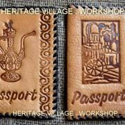 Кожаные паспортные обложки ручной работы . фото