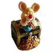 Копилка Мышь в сундуке 9,5см 1110 1115 фото