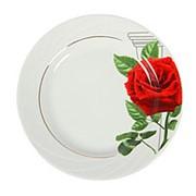 Набор тарелок Роза на капители, 6 предметов фото