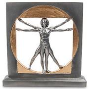 Скульптура Витрувианский человек (Леонардо да Винчи)/Великие люди 21,5х22х4см. арт.WS-70 Veronese фото