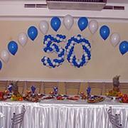 Украшение юбилея и дня рождения воздушными шарами фото