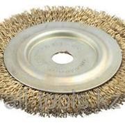 Щетка дисковая для шлиф маш, стальная, 16мм / 150мм Код:3518-150-16 фото