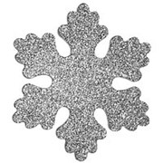 """Снежинка """"Облако"""", искристая, 20 см, серебряная (Зимняя Сказка) фото"""
