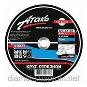 Круги отрезные по металлу АТАКА 115*1.2*22 фото