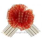 Бант-шар №10 Полоски , цвет бордовый фото