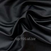 Стрейч-кожа цвет черный матовая фото