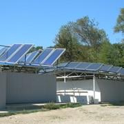 Солнечная водонагревательная система с естественной циркуляцией фото