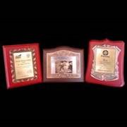 Сертификаты металлические подарочные фото