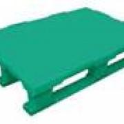 Поддоны полимерные сплошные 1200 Х 800 Х 160 мм. с полозьями фото