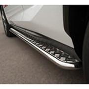 Пороги Lexus NX 300/300h/200/200t 2014-наст.время (труба с листом 42 мм) фото