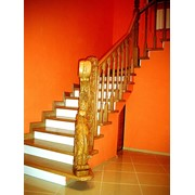 Деревянные лестницы для дома. Компьютерное проектирование лестниц, изготовление деревянных лестниц на заказ, монтаж фото