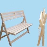 Скамья раскладная деревянная фото