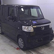 Микровэн HONDA N BOX PLUS кузов JF1 минивэн для пассажира инвалида колясочника гв 2014 пробег 38 т.км черный фото