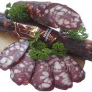 Колбаса мясная сырокопченая салями Московская, высшего сорта фото