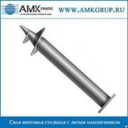 Свая винтовая стальная с литым наконечником СВС (л) 108мм фото