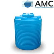 Бак пластиковый 1000 литров вертикальный цилиндрический с крышкой фото