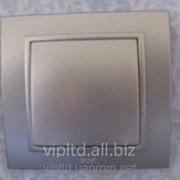 Выключатель ZENA модуль серебристый 609-011000-200 фото
