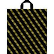 """Пакет с петлевой ручкой """"Золотая полоса"""" 38*45см фото"""