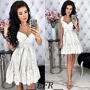 Платье женское на бретельках (3 цвета) - Белый ЕФ/-402 фото