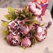 Букет пионов (цвет Засушенная роза) фото