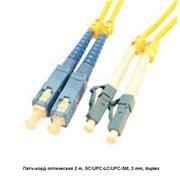 Патч-корд оптический 2 m, SC/UPC-LC/UPC-SM, 3 mm, duplex фото