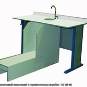 Изготовление мебели под заказ, Стол ученический химический с горизонтальным коробом фото