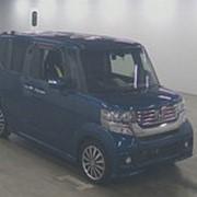 Микровэн турбо HONDA N BOX CUSTOM кузов JF1 класса минивэн модификация G TURBO SS гв 2015 пробег 46 т.км синий фото