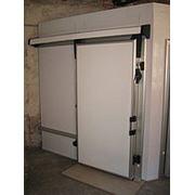 Откатные низкотемпературные двери 2200х2200 фото