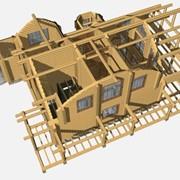 Проектирование деревянных, каркасно-панельных домов и бань фото