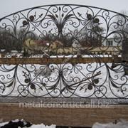 Ажурный кованый забор №16 фото
