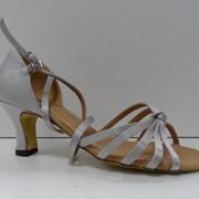 Туфли для бальных танцев, каблук 5 см (серый)  фото
