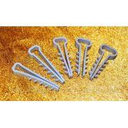 Хомут, зажим (дюбель-ёлочка) плоский 6, 8, 10, 12 и 14mm для крепления проводов и кабеля фото