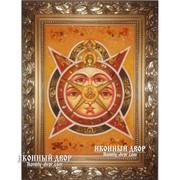 Всевидящее Око Божие - Икона Ручной Работы Из Янтаря Код товара: Оар-120 фото