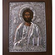 Икона Иисус в серебре фото