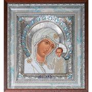 Икона Казанская Богородица (триптих) жемчуг фото