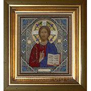 Икона Иисус Христос (к паре Владимирская с эмалями) +бисер фото