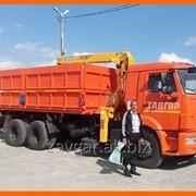 Самосвал Камаз сельхозник с манипулятором Soosan 513 фото