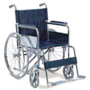 Коляска інвалідна FS 874, ручна стальний тип, ширина сидіння-46 фото