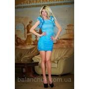 Платье голубое крылышки фото