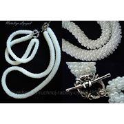 Свадебные украшения (бусы, браслет) фото