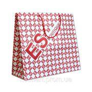 "Нанесение логотипа на бумажный пакет, сумка ""ES"" фото"