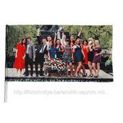 Прапорець з фото 24 см х 13 см фото